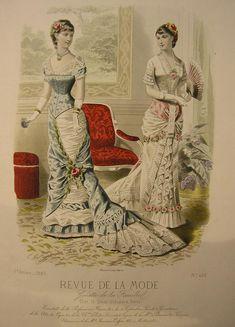 victorian fashion plates ca 1880s                                                                                                                                                                                 Plus