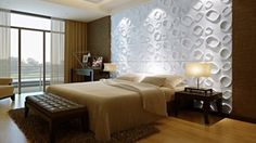 3D 3d Wall Panels, It Is Finished, Bed, Modern, Interior, Furniture, Design, Home Decor, Rose