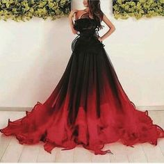 151 gothic wedding dresses challenging traditions page 26 Black Wedding Dresses, Formal Dresses, Gothic Prom Dresses, Halloween Wedding Dresses, Ombre Wedding Dress, Black Red Wedding, Ombre Prom Dresses, Halloween Weddings, Black Weddings