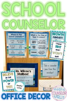This bundle includes school counseling office decor that offers a peaceful and calming vibe! There are three consistent themes within this bundle including a palm tree, seashell, and a watercolor beach theme. School Counselor Office, Counseling Office Decor, Office Themes, School Counseling, Office Decorations, Beach Office, Color Plan, Beach Watercolor, Counseling Activities