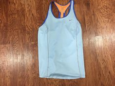 b63e04ca06 Nike Dri-Fit Racerback Blue Orange Tank Top Women s Size Large Lightweight   Nike  ShirtsTops