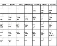 Sample Schedule to Use when Studying for the Praxis Exam -  Pinned by @PediaStaff – Please Visit http://ht.ly/63sNt for all our pediatric therapy pins