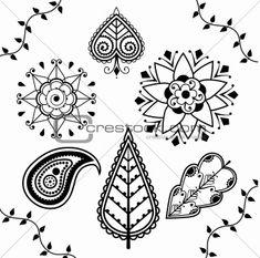Henna patterns - leaf