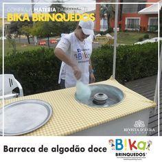 Na Bika Brinquedos você também pode contar com a Barraca de algodão doce uma das barracas mais pedidas em todas as festas infantis. Acompanhe na Revista DÁvila as matérias semanais da Bika Brinquedos e também de todos os outros parceiros. http://ift.tt/1UOAUiP (link na bio).