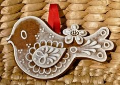 Jihočeský dekorativní perník - Certifikované produkty - Prácheňsko - Regionální značky Cute Cookies, Easter Cookies, Holiday Cookies, Christmas Gingerbread, Gingerbread Cookies, Biscotti, Ginger Cookies, Food Decoration, Wedding Cookies