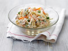 Italiansalaatti | Valio Pasta Salad, Cabbage, Grains, Salads, Rice, Yummy Food, Dinner, Cooking, Ethnic Recipes