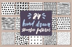 24 Hand Drawn Seamless Patterns by Type and Graphics Lab on Creative Market