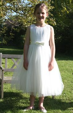 Gorgeous Pleated Tulle Flower Girl Dress #vintage #wedding