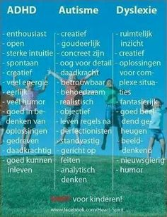 The positive 'symptoms' of ADHD, Autism and Dyslexia in Dutch Coaching, Baby Massage, Social Work, Social Skills, Adhd Quotes, Special Educational Needs, School Info, Special Kids, Psychology Facts