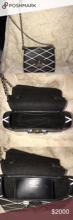 Louis Vuitton Malletage PM Black epi shoulder bag 100% authentic Louis Vuitton in excellent condition. Purchased in Vegas about a year ago, very gently used.  Does not come with dust bag or receipt. I purchased for $3550. Will accept serious offers only. Date code picture is very hard to see but there. Here is the code:SR0136 Louis Vuitton Bags Shoulder Bags