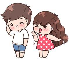 Boobib lovely couple 4 (Indo) – LINE stickers