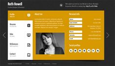 Buy Prestige - Personal vCard Template by QuanticaLabs on ThemeForest. Prestige is a minimal and colorful personal vCard Template based on different color menu tabs. Free Website Templates, Joomla Templates, Template Site, Cv Resume Template, Creative Resume Templates, Sample Resume, Curriculum Vitae Resume, Web Design Software, Font Face