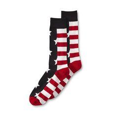 Men's Novelty Crew Socks American Flag Americana Pride Casual Trouser 10-13 L…