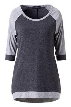 Zattcas Womens Slouchy Dolman Tunic 3/4 Sleeve Raglan T Shirt Tops, http://www.amazon.com/dp/B01ERGGDUS/ref=cm_sw_r_pi_awdm_9lLtxb04XDKBD