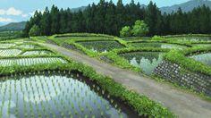 おおかみこどもの雨と雪/Ookami Kodomo No Ame To Yuki by Hiroshi ohno Fantasy Landscape, Landscape Art, Totoro, Wolf Children Ame, Anime Places, Episode Backgrounds, Studio Ghibli Art, Aesthetic Japan, Fantasy Castle