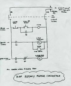 Rotary Phase Converter Connection Diagram in 2019