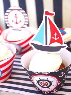 Preppy Nautical Birthday Party with DIY ideas on decorations, printables, food and favors - Great red, white and blue 4th of July or memorial day. #4thofjuly #redwhiteblue #nautical #nauticaldecor #nauticaltablescape Party Icon, Party Kit, Party Ideas, Diy Ideas, Theme Ideas, Food Ideas, Memorial Day Celebrations, Festive Crafts, Party Themes For Boys