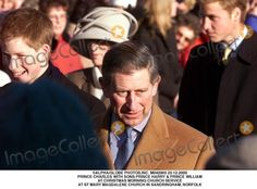 Alpha/Globe Photos,inc. M042905 25.12.2000 Prince Charles with Sons Prince Harry & Prince William at Christmas Morning Church Service at St Mary Magdalene Church in Sandringham, Norfolk