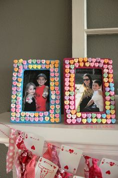 Don't let those Valentine's hearts go to waste. Create a bright #DIY frame to hold the memories of the special day.