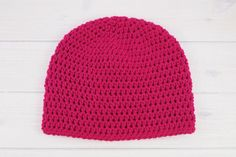 Easy Peasy One Skein Hat | All you need is one skein of yarn to whip up this easy peasy crochet hat!