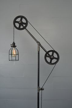 Industrial Floor Lamp (Steel Wheels) - - AmazonSmile