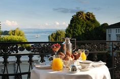 Breakfast at Hotel Baur au Lac in Zurich, Switzerland #travel   - Explore the World with Travel Nerd Nici, one Country at a Time. http://TravelNerdNici.com