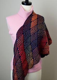 Ravelry: Dragon Wing Shawl pattern by Lijuan Jing