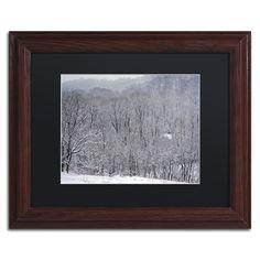 Kurt Shaffer 'Quiet Heavy Snowfall' Matte, Wood Framed Wall Art