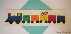 Name train craft for preschool, and other cute name crafts.