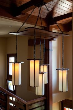 Arts and Craft pendant lights