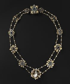 Twelve Medallions Mounted as a Necklace | Page 2 | Cleveland Museum of Art. France, Paris, late 14th-early 15th century enameled gold, precious stones, a.nd pearls; some later additions with modern chain