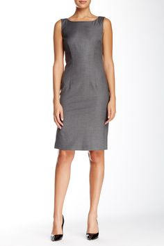 The perfect gray dress for a chic work ensemble.
