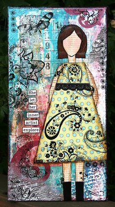 She Art Girl Number 1 by Sarah Schwerin, via Flickr
