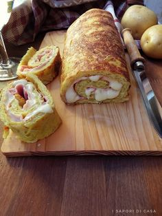 Rotolo di patate con prosciutto e formaggio Tortellini, Antipasto, Diy Food, Junk Food, Finger Foods, Gluten Free Recipes, Italian Recipes, Buffet, Dessert Recipes