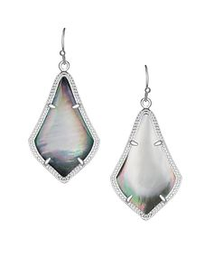 Looking for an edge? Kendra Scott has the perfect combination of silver and black pearl for you.- Alex Earrings