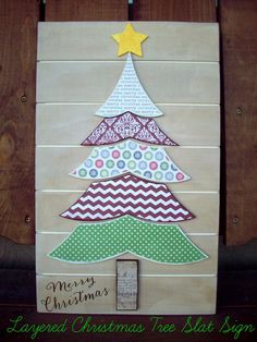 Christmas Tree Slat Sign Craft Tutorial