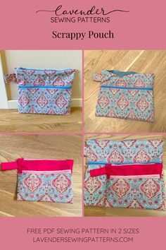 Sewing Patterns Free, Free Sewing, Free Pattern, Pouch Pattern, Lavender