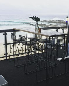 Surfers deck all set at this years Quiksilver Pro at Snapper Rocks  Our new black wire stools are so perfect with the hairpin dry bars.  Lets hope we get some swell for the event.  Styling by @karenneilsencollection  by hamptoneventhire