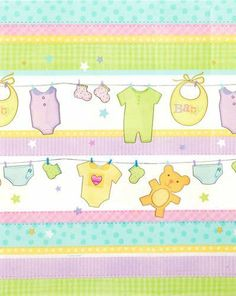 "Cuddly Clothesline Tablecover by Rubies. $7.95. Cuddly Clothesline Tablecover made of plastic, measures 54"" x 102""."