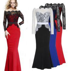 2017 Women Summer Floral Bow Lace Dress Elegant Dovetail Swing Word Collar Dresses Mermaid Maxi Dress Sexy Long Vestidos