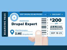 Drupalize.Me Boarding Pass