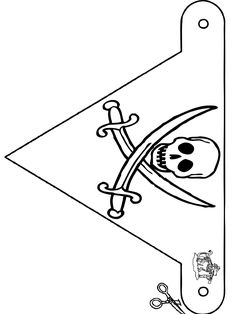 Pirate Flag Coloring Page Pirate Birthday, Pirate Theme, Jack Le Pirate, Make Your Own Flag, Homemade Pirate Costumes, Crafts To Do When Your Bored, Caribbean Party, Pirate Crafts, Flag Coloring Pages