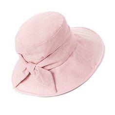a95aacbe Siggi Bucket Boonie Cord Fishing Cap Summer Sun Hat Linen Bowknot Wide Brim  for Women Pink