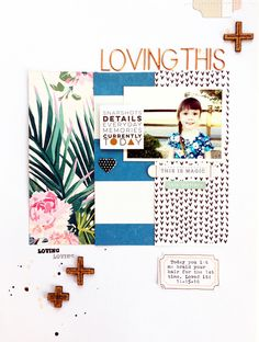 Loving This by MichelleWedertz at Studio Calico 3 equal pattern strips +s Studio Calico, Scrapbook Sketches, Scrapbook Page Layouts, Scrapbook Pages, Crate Paper, Birthday Scrapbook, Disney Scrapbook, December Daily, Scrapbook Paper Crafts