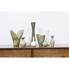 Collection of stoneware vases by Carl Harry Stålhane at www.modernisten.com