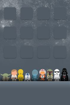another pinner said: Star Wars wallpaper I have used for my iPod. So cute/awesome.... If only there was a star trek one :)