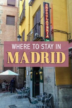 Where to Stay in Madrid: Madrid is an extensive city, with many different neighborhoods. While getting around via metro is easy, picking an awesome area to begin with can only make the trip better!