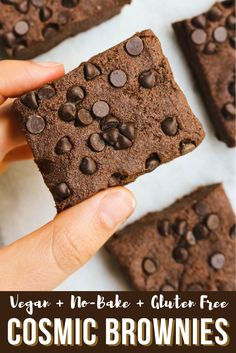 These No-Bake Vegan Cosmic Brownies are just as delicious as your favorite childhood treat, but are gluten free and good for you too!