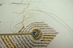 Make your own Goldwork Peacock Feather | Your Wardrobe Unlock'd