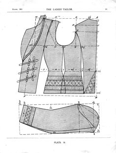 Ladies' short jacket. Full instructions included. Multiple pages so please mind page numbers (tumblr likes scrambling them sometimes)! March 1911.